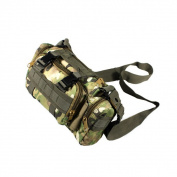 Blancho Bedding WXR002-CP Light Woodland Military Camouflage Multi-Purposes Fanny Pack / Waist Pack / Travel Lumbar Pack