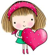 Penny Black 468262 Penny Black Rubber Stamp 7cm . x 7cm . -Mimis Heart