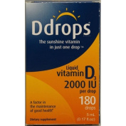 Ddrops 1072875 D Drops Liquid Vitamin D3 - 2000 IU - 0.17 fl oz
