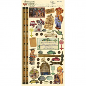 Heartwarming Vintage Cardstock Stickers 15cm x 30cm Sheet-Little Boys