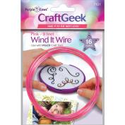 Purple Cows PC7101 Wind It Wire 16 Gauge 0.9m-Pkg-Pink