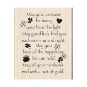 Inkadinkado Mounted Rubber Stamp 7cm x 5.7cm -May Good Luck Find You