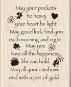 Inkadinkado 461665 Inkadinkado Mounted Rubber Stamps-May Good Luck Find U