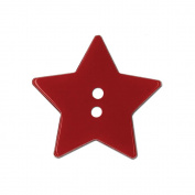 Blumenthal Lansing 93602 Slimline Buttons Series Funtastics -Red Star 2-Hole 1-.33cm . 2-Card