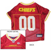Mirage Pet Products Kansas City Chiefs Jersey for Dogs and Cats, X-Small