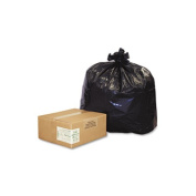 Earthsense Commercial RNW4620 Can Liners-  151.4-170.3l- 2.0 mil- 40 x 46- Black- 100/Carton