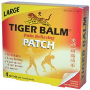 Tiger Balm 0933150 Pain Relieving Patch Large 4 Patches - 20cm x 10cm . Each - Case of 6 - 4 Pack