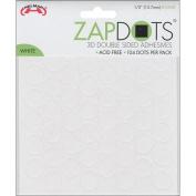Helmar 120338 Zapdots 3D .13cm . Adhesive Rounds-White 104-Pkg