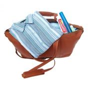 Piel Leather 2379 Medium Carry-On Satchel - Saddle