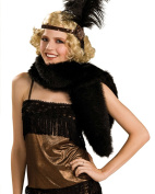 Womens Black Fur Halloween Stole