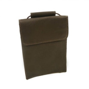Piel Leather 2854-CHC Hanging Passport Holder - Chocolate