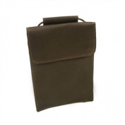 Piel Leather 2854-CHC Hanging Passport Holder - Chocolate