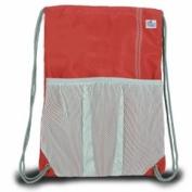 Sailor Bags 315-RG Drawstring Bag True Red with Grey Trim