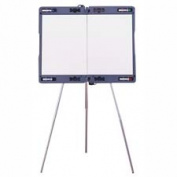 Ghent Manufacturing- Inc GHE19982 Portable Presentation Easel- Extends 23-.130cm .x35-.130cm .- Grey