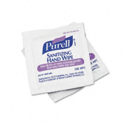 Purell 9022-10BX Premoistened Sanitising Hand Wipes- 5 x 7- 100/Box
