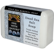 One With Nature 0650259 Dead Sea Mineral Dead Sea Salt Soap - 210ml