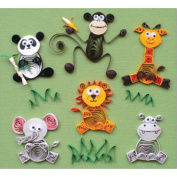 Quilled Creations Q274 Quilling Kit-Jungle Buddies