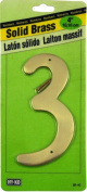 Decorative Solid Brass House Numbers, 10cm #3