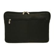 Piel Leather 2893-BLK 15In Zip Laptop Sleeve - Black