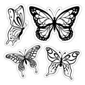 Inkadinkado 474503 Inkadinkado Cling Stamps 10cm . x 10cm . Sheet-Butterflies