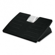 Fellowes Mfg. Co. FEL8032201 Adjustable Foot Rest- Tilt- 17-.130cm .x13-46cm .x4-.100cm .- Black-Silver