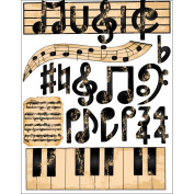 Outdoors & More C499-925 Themed Die Cut Assortment-Music