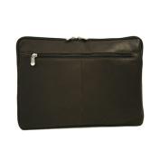 Piel Leather 2894-CHC 17In Zip Laptop Sleeve - Chocolate