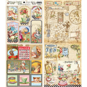 Crafty Secrets 489076 Heartwarming Vintage Creative Scraps Dble-Sided 24cm . x 20cm . Fold-Tea In Wonderland