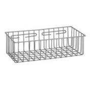 R & B Wire 2255 15 in. L x 7 in. W x 3.5 in. D Metal Medical Storage Basket - Wall Mounted