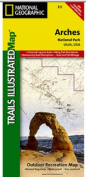 National Geographic TI00000211 Map Of Arches National Park - Utah