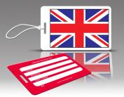 Insight Design 770592 TagCrazy Luggage Tags- United Kingdom Flag- Set of Three