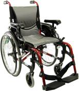 Karman Healthcare S-Ergo305Q18RS Ergonomic Wheelchair-Rose Red