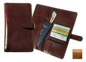 Raika RM 117 TAN Snap Closure Deluxe Travel Wallet - Tan