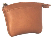 David King& Co 439T Zip Coin Purse- Tan