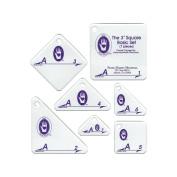 Marti Michell Perfect Patchwork Template, Set A, 7.6cm Basic Square Set, 7/pkg