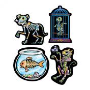 Day of the Dead Pet Cutouts Party Accessory (1 Count) (4/pkg) Pkg/3