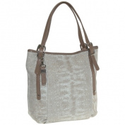 Buxton FDL11024.BE.BX Sophie Collection Leather Tall Shoulder Bag - Beige
