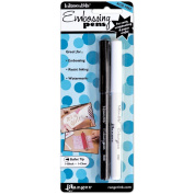 Ranger Inkssentials Emboss It Pens, 2 per pkg, Black And Clear