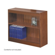 Safco Products 1501CYC Square-Edge Bookcase, 2 Shelf, Cherry