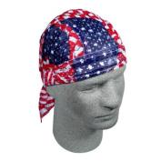 Zan Headgear ZX265 Vented Flydanna 100 Percent Polyester Mesh Wavy American Flag