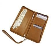 Piel Leather Zippered Passport Ticket Holder