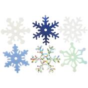 Creative Impressions 202785 Medium Shimmer Snowflakes 75-Pkg