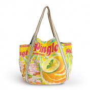 Blancho Bedding AWG-03039 Pingle Eco Canvas Shoulder Tote Bag / Shopper Bag / Multiple Pockets