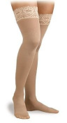 Activa 20-30 mmHg Soft Fit Thigh High with Lace Top Socks, Ivory, X-Large