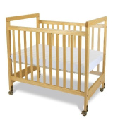Foundations 1632040 Foundations SafetyCraft Compact Fixed-Side Crib in Natural with Adjustable Mattress Board Clearview