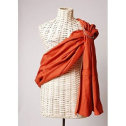 Lightly Padded Maya Wrap Ring Sling - Burnt Orange - Large
