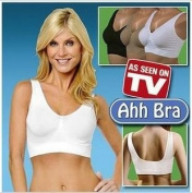 Ahh Bra Unpadded 3 Pairs, Size 14, Black/Nude/White