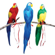 Beistle Company 27124 50cm Parrot Asst. 1 count - plastic artificial feathers