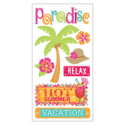 Trends International 200710 Essentials Dimensional Stickers 7cm . x 17cm . Sheet-Tropical Vacation