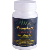 NeemAura Naturals Herbal Neem Leaf Vegicaps Certified Organically Grown 400 mg 60 capsules 29069
